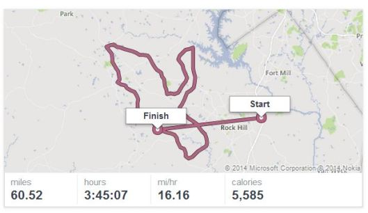 York County 50 Mile_MapMyRun